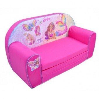 Canapea extensibila din burete multicolor Barbie