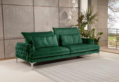 Canapea Gala Chester, culoare Paris Green, spatar culisant, 245x127 cm