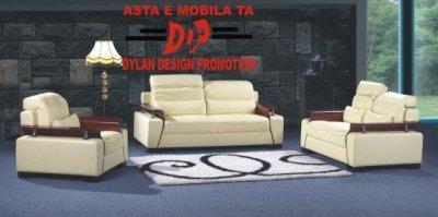 Canapele clasice cu tetiere reglabile, model Rowa, crem