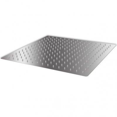 Cap de duș pătrat tip ploaie, oțel inoxidabil, 40 x 40 cm, prindere tavan ajustabila