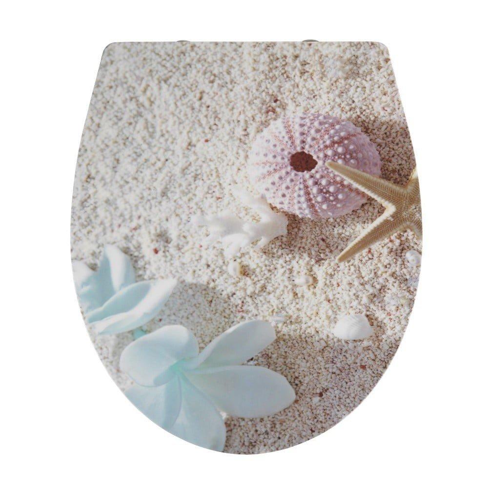 Capac WC cu închidere lentă Wenko Bora Bora, 46 x 39 cm, model plaja