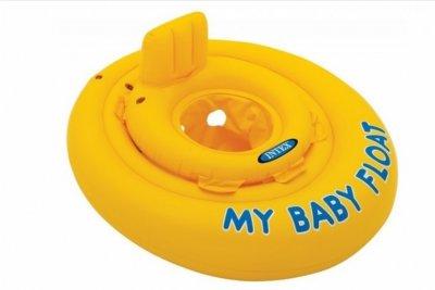 Colac gonflabil de inot pentru bebelusi, Intex - 70 cm, galben