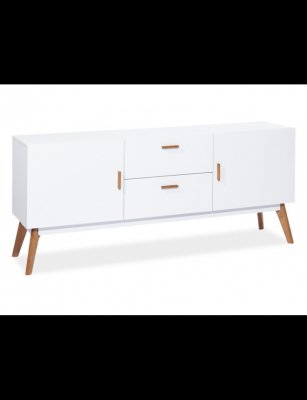 Comoda Milan K1 - lemn masiv si mdf - design scandinav