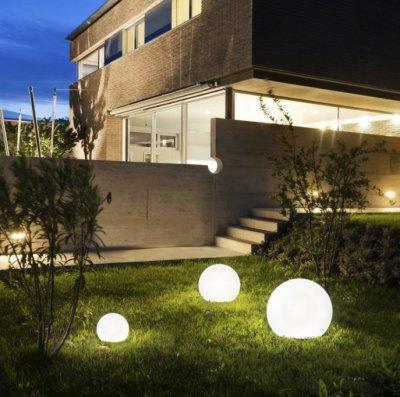 Corp de iluminat pentru exterior Cumulus L, sfera luminoasa, stil industrial