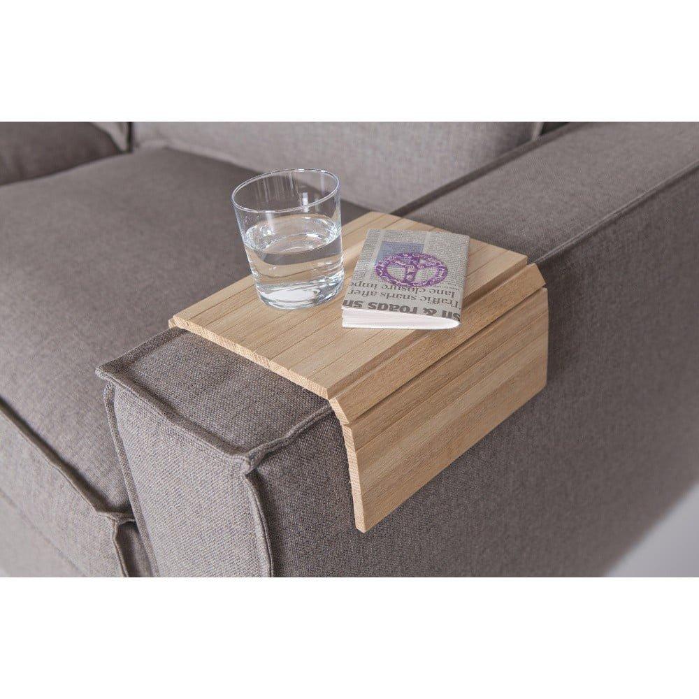 Cotieră flexibilă din lemn pentru canapea De Eekhoorn Tray, natural