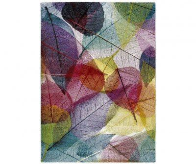 Covor Colors 160x230 cm, imprimeu frunze, multicolor
