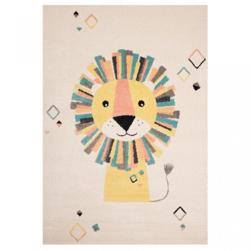 Covor crem/colorat pentru copii 170X120 cm LION STAN ZALA LIVING