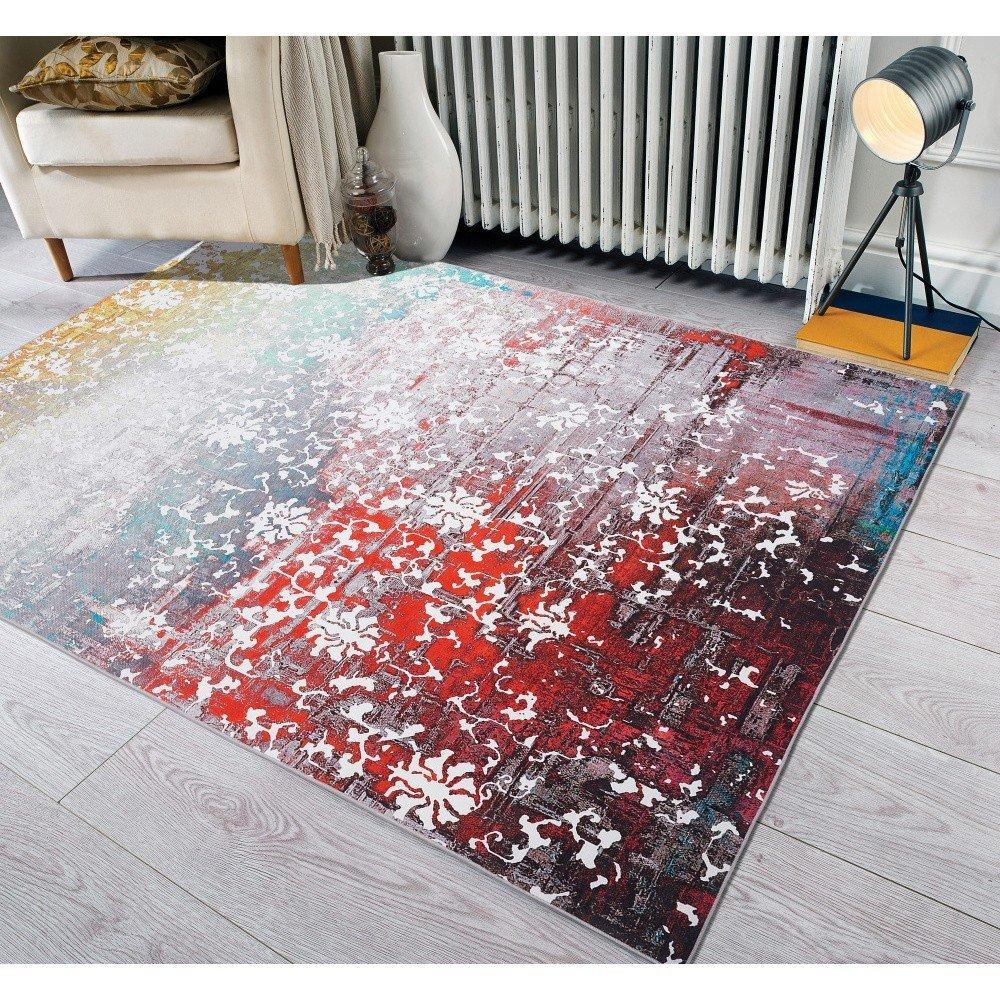 Covor cu rezistență la pete Floorita Paparazzi Multi, 120 x 180 cm, multicolor