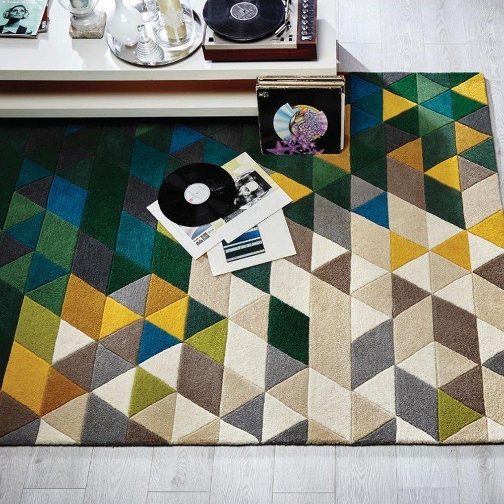 Covor din lână Flair Rugs Illusion Prism, 160 x 220 cm, imprimeu colorat, modern
