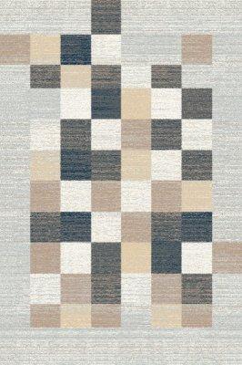Covor din PP Ager Grey, Wilton, imprimeu geometric, gri