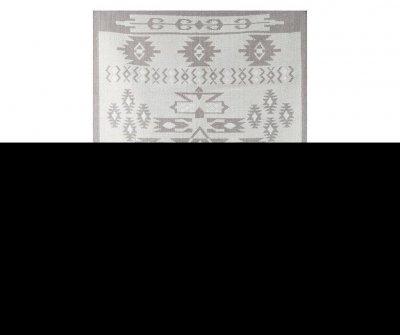 Covor Ethnic 60x90 cm, gri, stil rustic