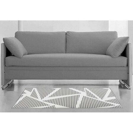 Covor Matejovsky Twist, 80 x 150 cm, alb/gri, dungi, motive geometrice
