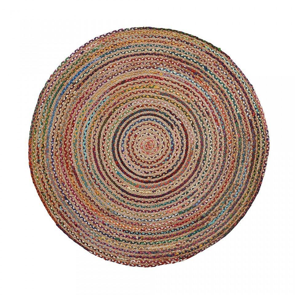 Covor rotund multicolor din iuta 100 cm SAMY La Forma