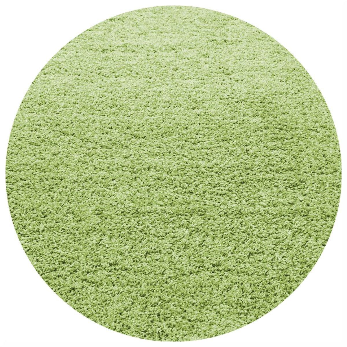 Covor cu fir lung Shaggy Baldur, Rotund, Verde 80x80