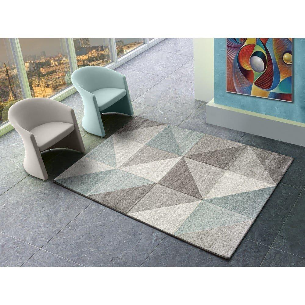 Covor Universal Retudo Naia, 160 x 230 cm, gri-albastru, model geometric