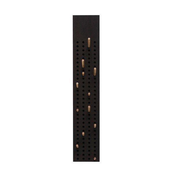 Cuier de perete din lemn de bambus Moso We Do Wood, 105 x 20 cm, negru