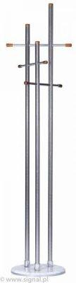 Cuier din metal CR-809, argintiu, h188 cm