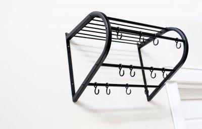 Cuier hol Matei, metalic, negru