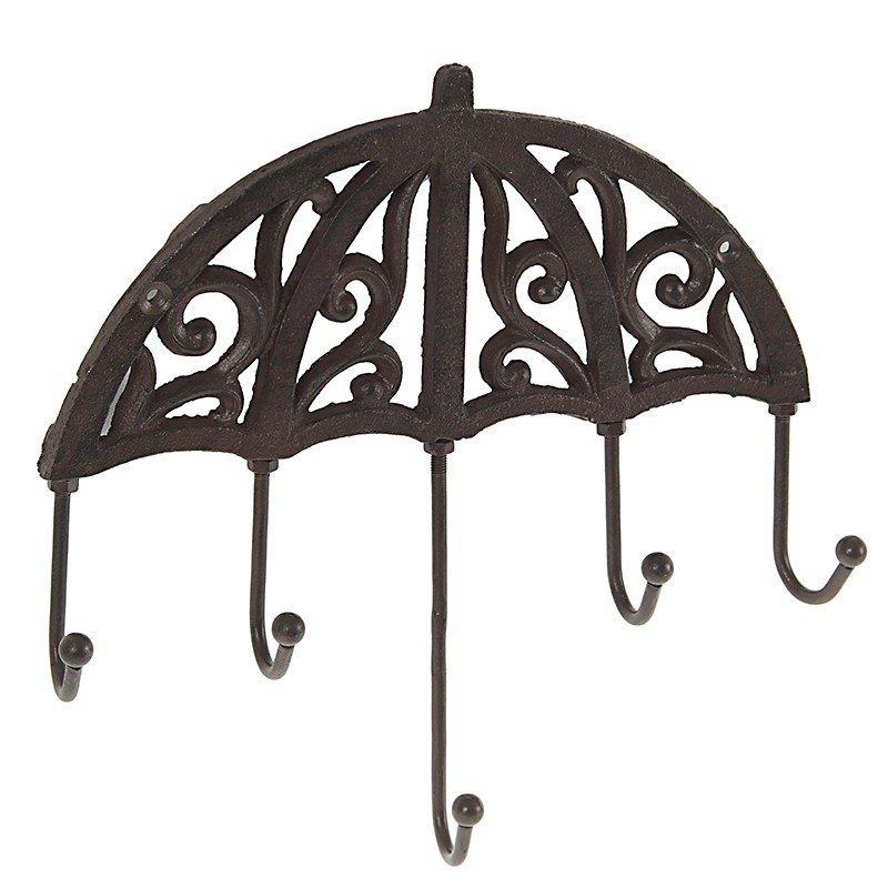 Cuier umbrela metalic 24X4X27, maro