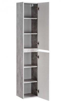 Dulap baie inalt cu 2 usi, Atelier, alb-gri