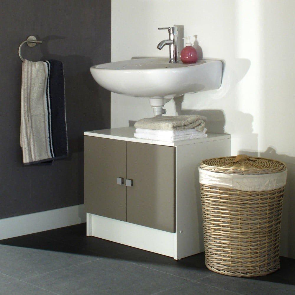 Dulap baie pentru chiuvetă Symbiosis André, gri - maro