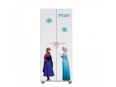 Dulap copii cu doua usi Frozen, alb