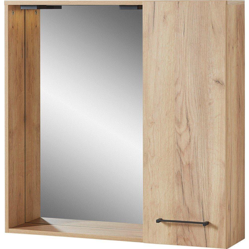 Dulap de perete cu oglindă Germania Gintano, stejar, stil nordic
