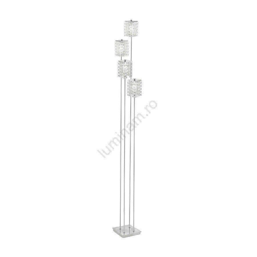 Eglo- lampadar PYTON , metalic, cu cristale, design modern,