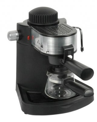 Espressor manual Hausberg,3.5 Bar,4 cesti 650 W, negru