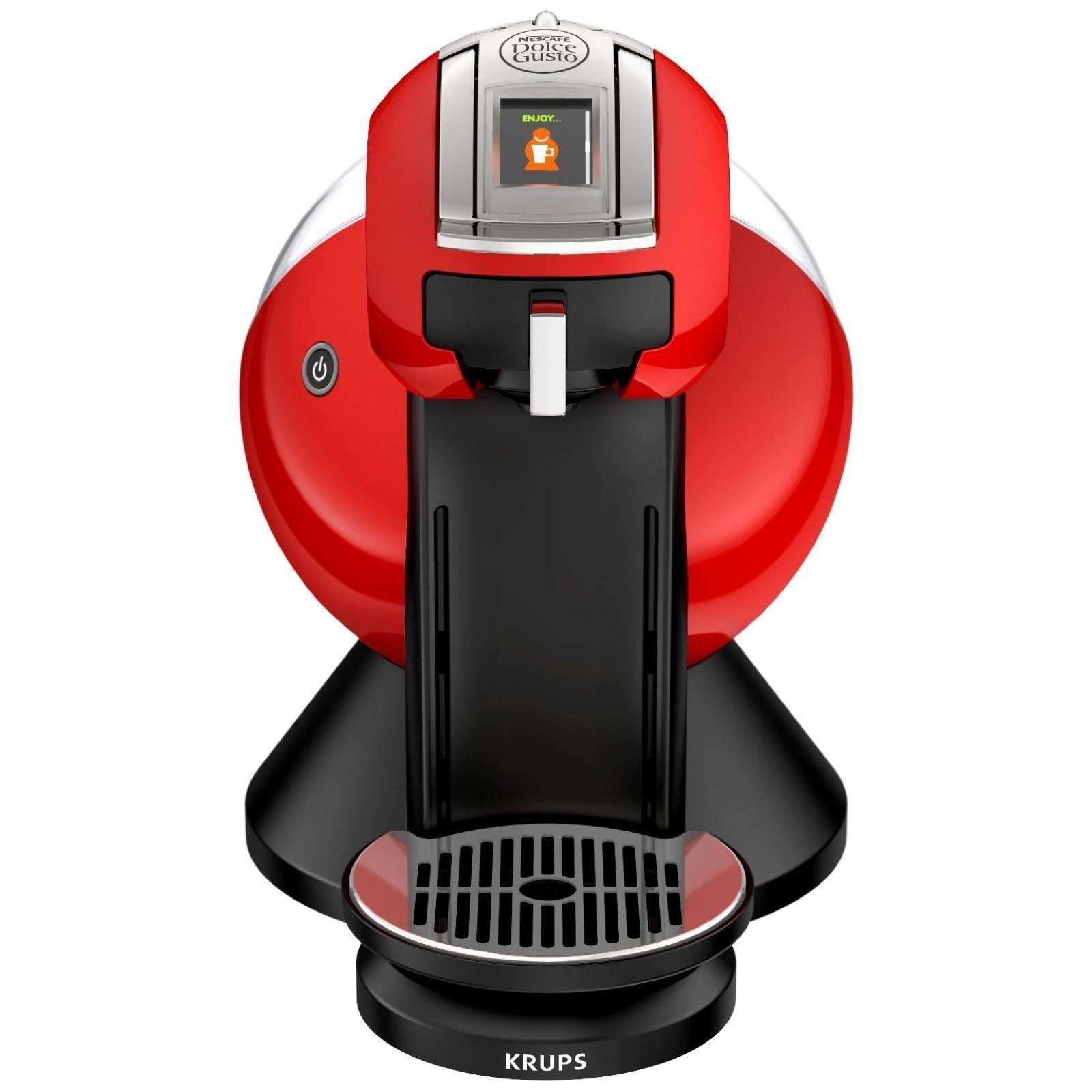 Espressor multi beverage Krups KP2606E2 , presiune 15 bari, capacitate 1,5 L, rosu
