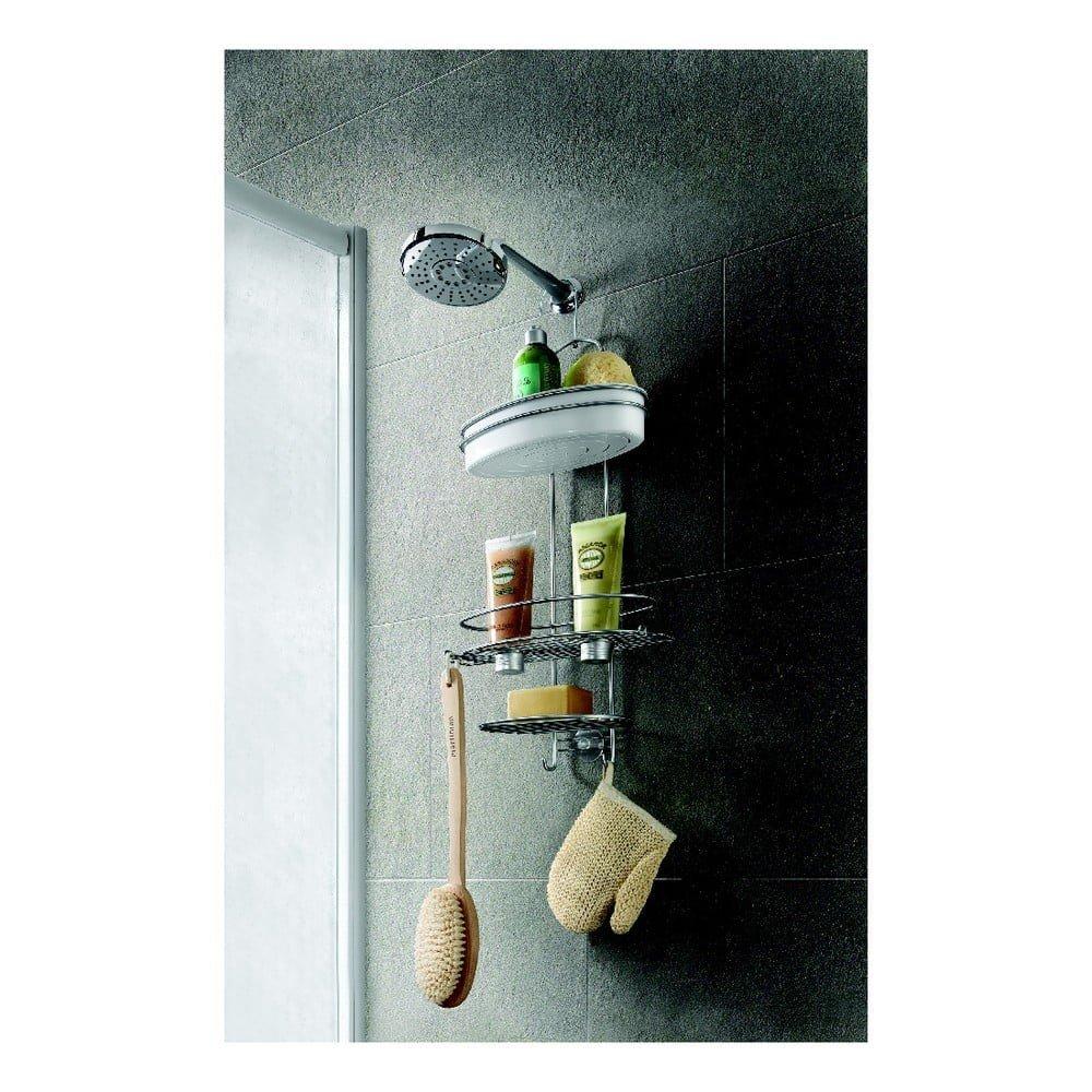 Etajeră suspendată, cu 3 nivele și bol pentru cabina de duș Metaltex