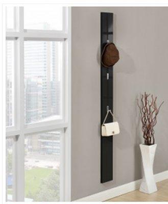Cuier de perete pentru hol- agatatoare haine - negru