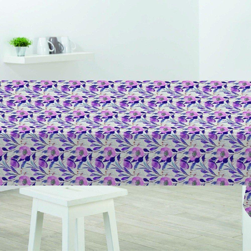 Faţă de masă Sabichi Poppy, 178 x 132 cm, imprimeu floral, violet