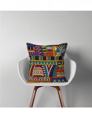 Fata de Perna Decorative Ethnic 44x44 cm, multicolor