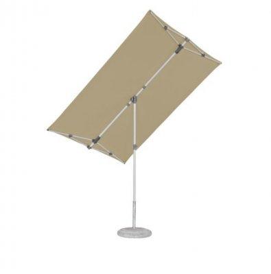 FLEX-ROOF Umbrelă, dreptunghiulara, gri, cu functie de inclinare si rotire
