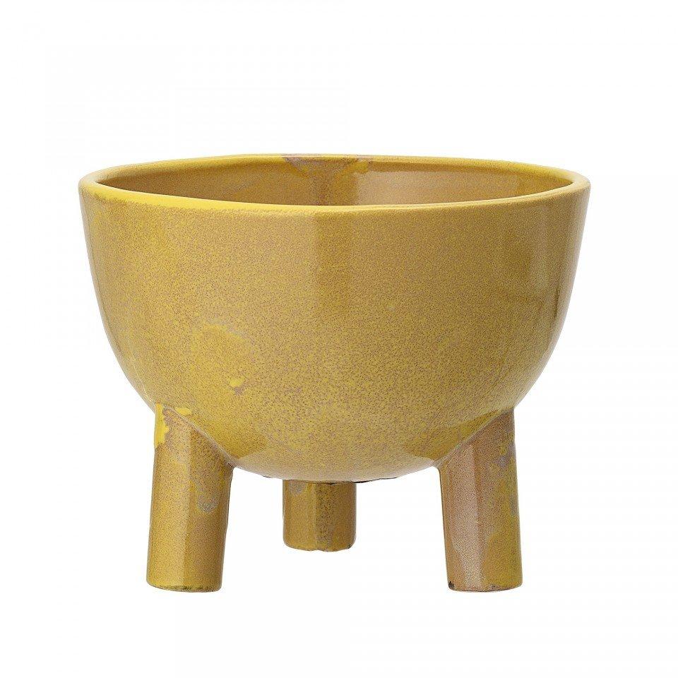 Ghiveci galben din ceramica 15X11,5 cm Bloomingville, rotund