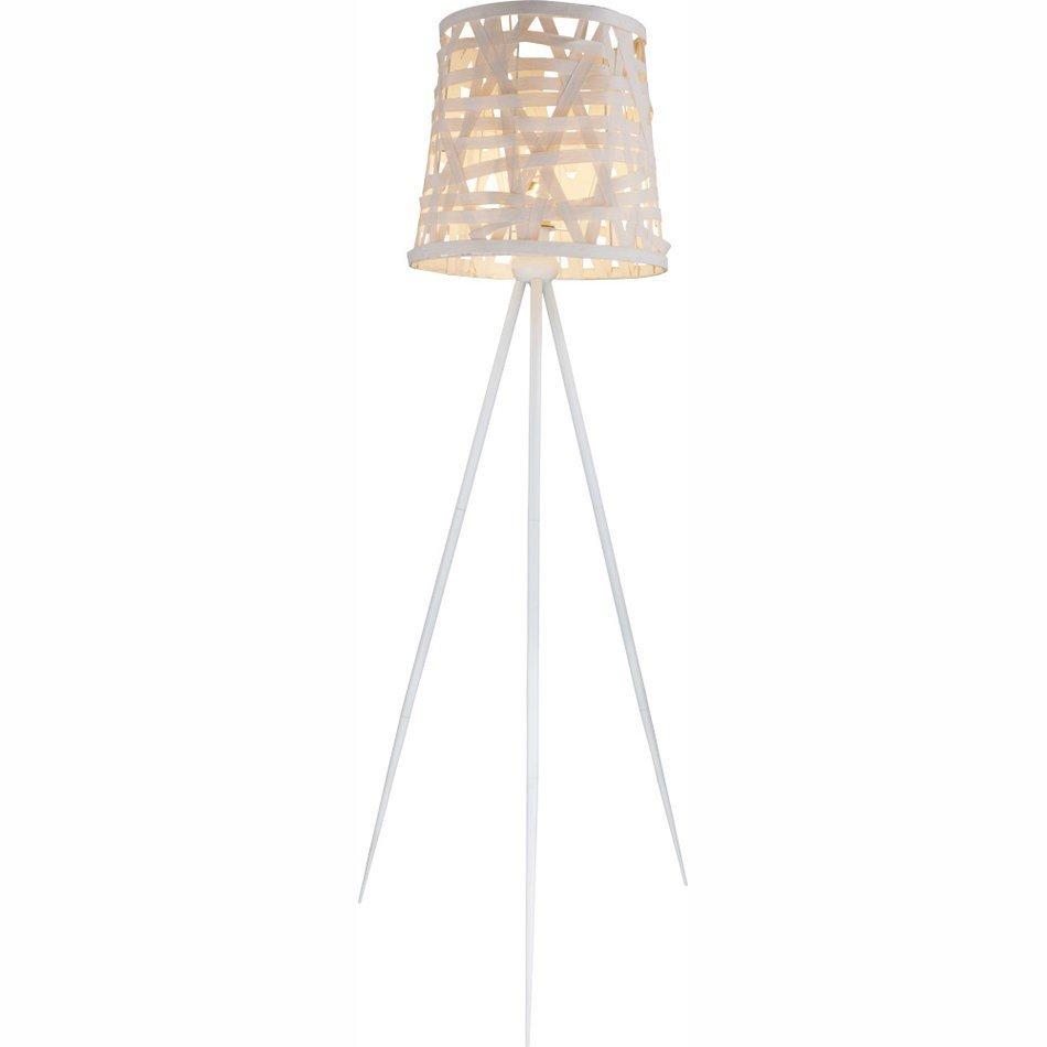 Globo Salvador  lampadare cu abajur alb, bec  1 x E27 max. 60w, 156 x 43 x 43 cm