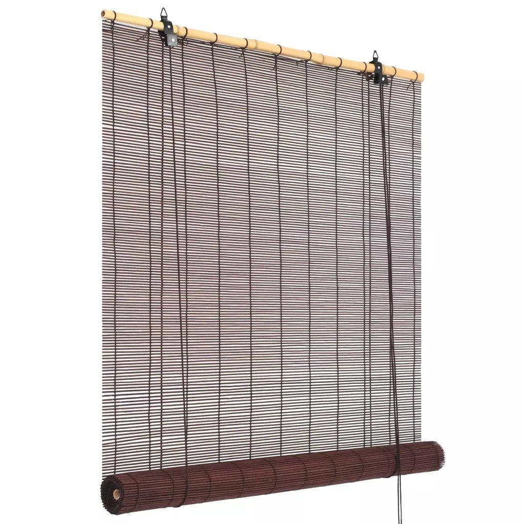 Jaluzea bambus 150 x 220 cm, maro închis