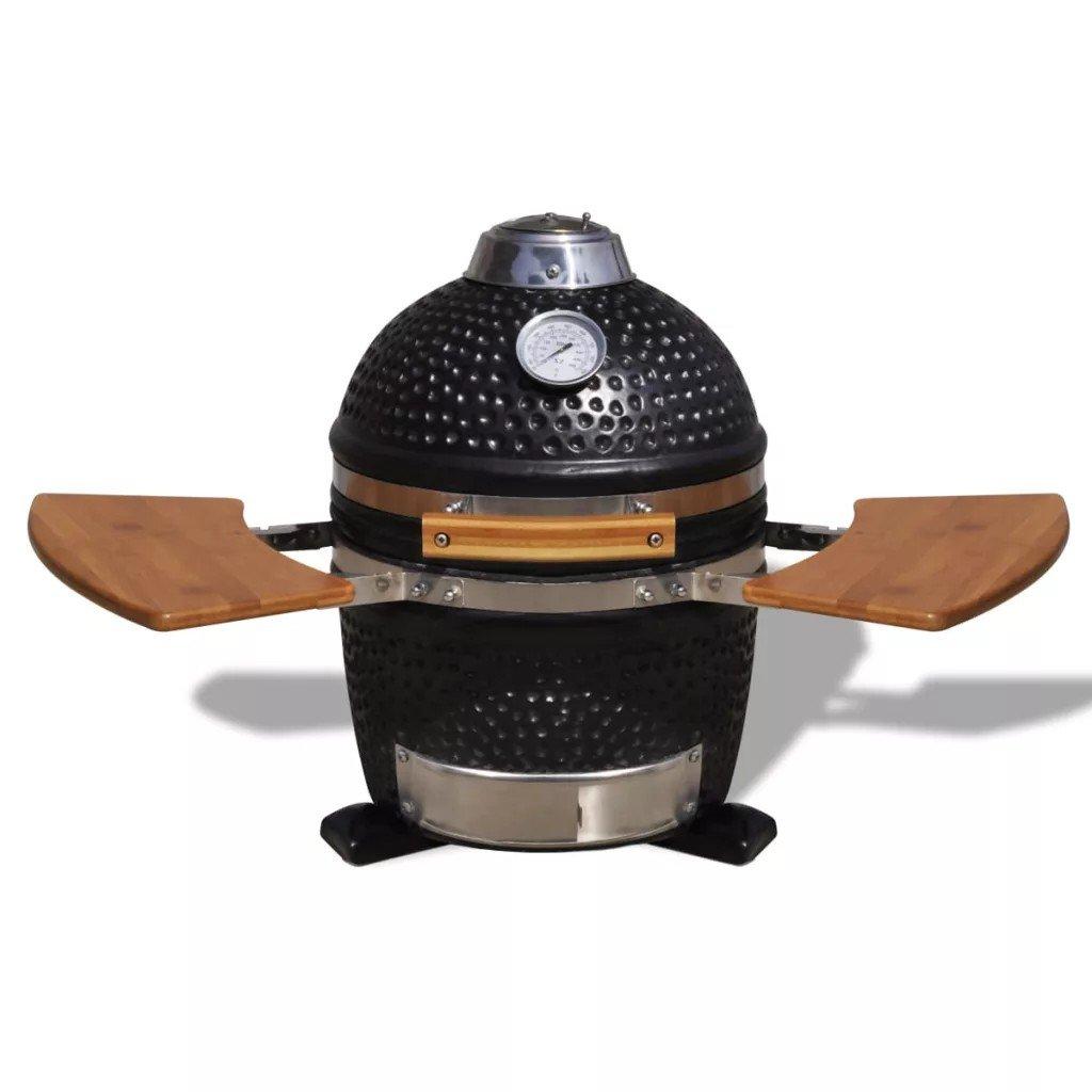 Kamado Grătar cu afumătoare din ceramică 44 cm