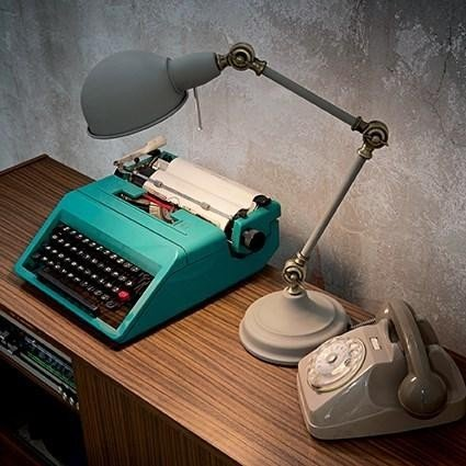 Lampa de birou  vintage Truman TL1 Grey, brat articulat