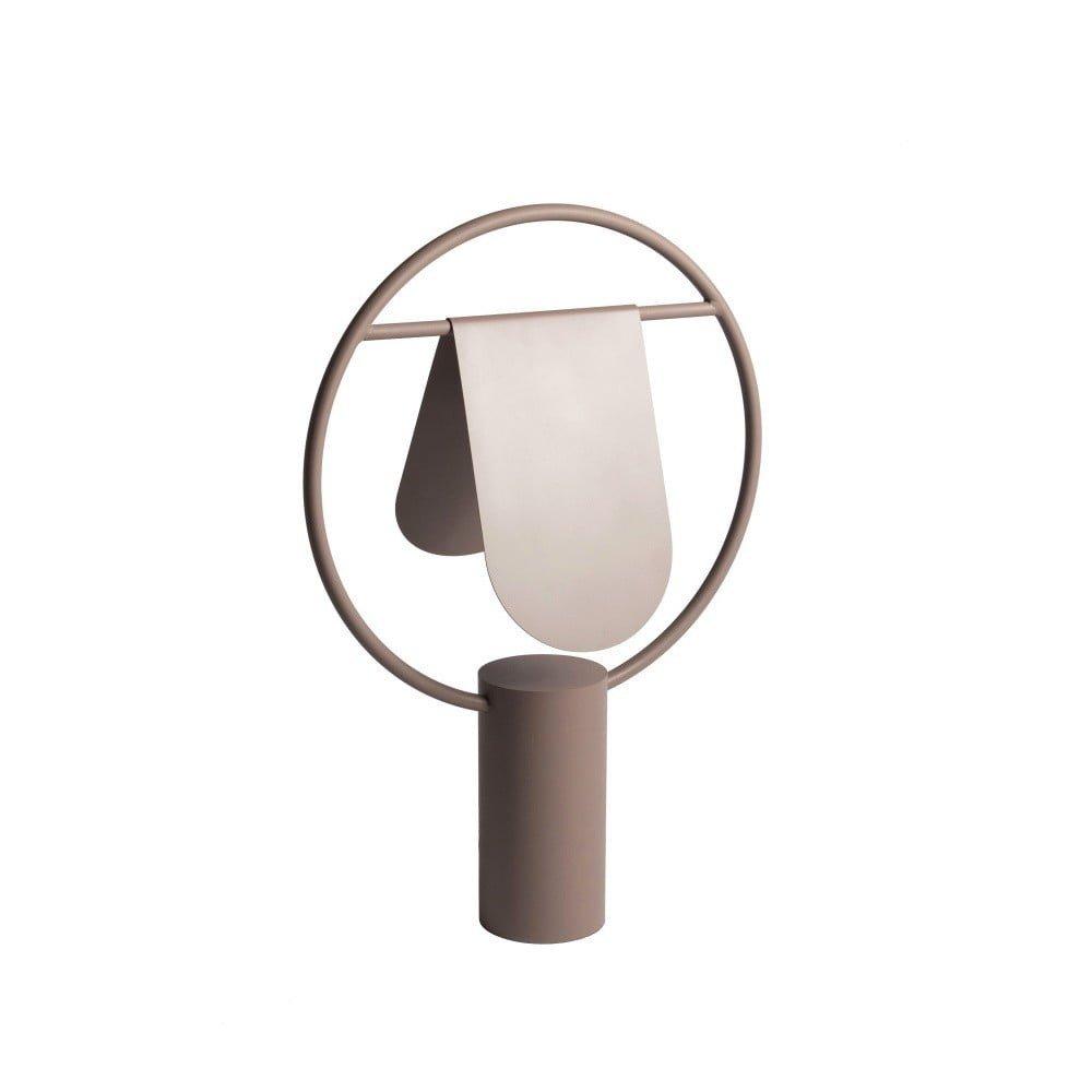 Lampă de birou din metal HARTÔ Anae, maro, aspect mat