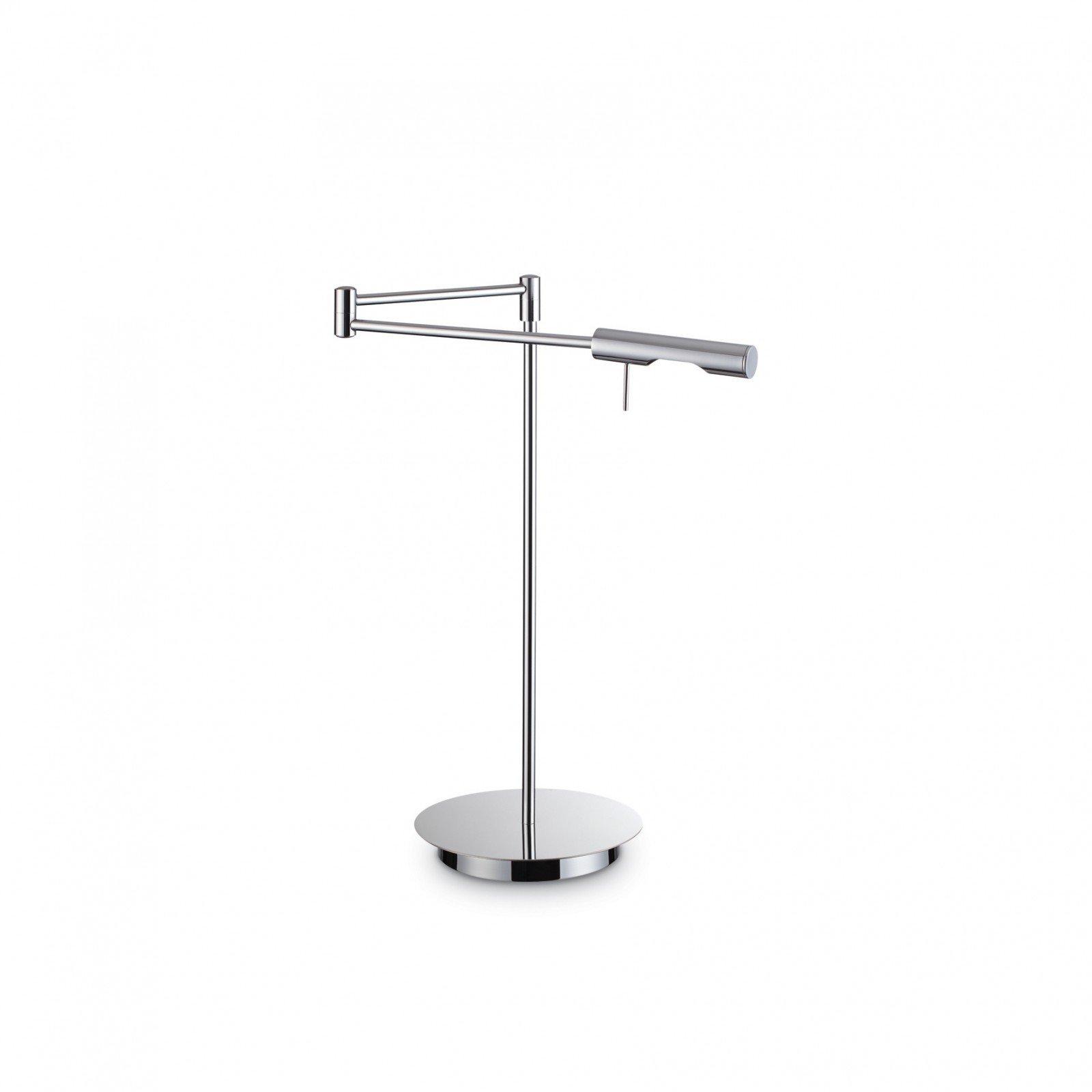 Lampa de birou Drill TL1 Chrome, brat flexibil, design modern