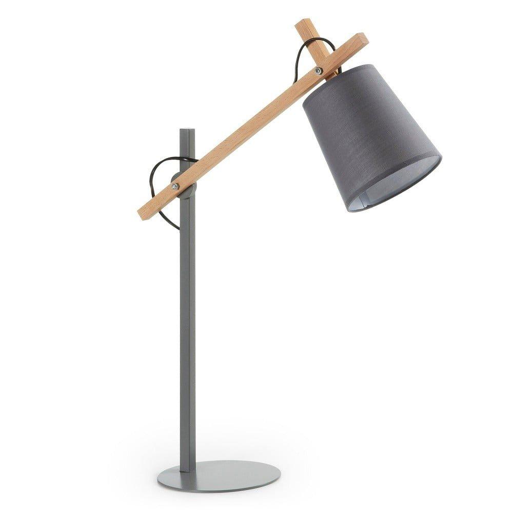 Lampă de birou La Forma Jovik, metal/lemn, brat articulat, stil scandinav