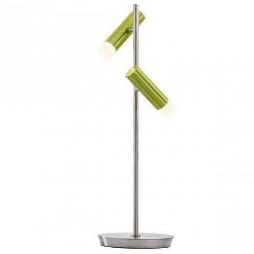 Lampa de birou RegenBogen Techno 705030402, doua becuri cu abajururi metalice verzi