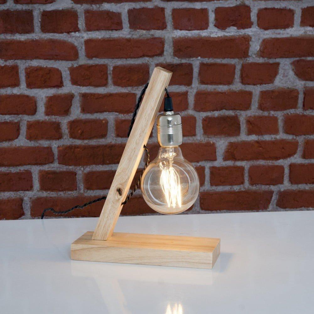Lampă de birou Sergio, lemn, stil minimalist