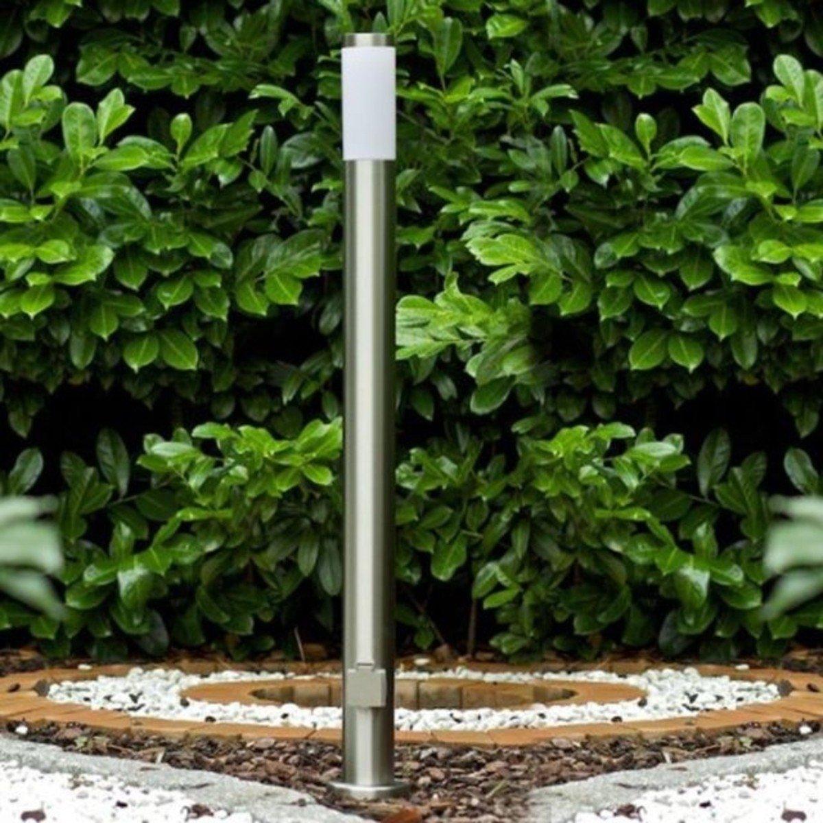 Lampa de gradina cilindrica, Nordlux, melat, crom mat