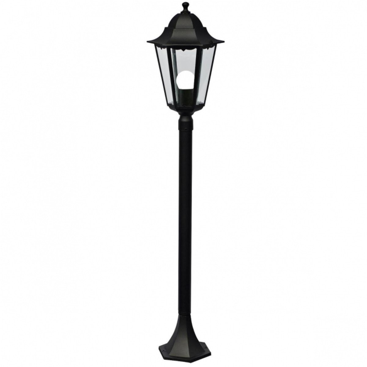 Lampa de gradina, felinar negru, metalic, vinatge