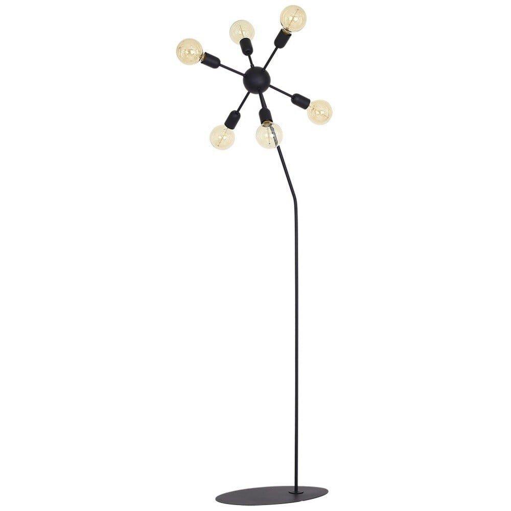 Lampă de podea Scorpius Suro, negru, metal, 6 becuri
