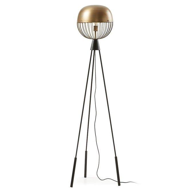 Lampadar din metal si alama Breeza La Forma, abajur sferic