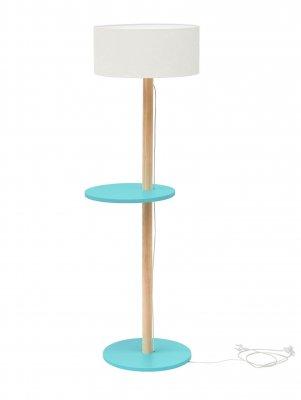 Lampadar Lamp Ufo White / Dark Turquoise, cu etajera, stil scandinav